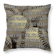 The Old Ballgame Throw Pillow