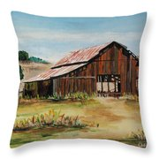 The Old Barn Throw Pillow