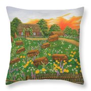 The Old Beekeeping Museum Throw Pillow