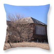 The Old Brick School Throw Pillow
