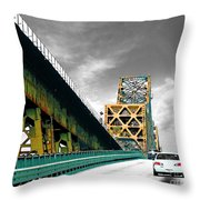 The Old Bridge Hwy 190 Mississippi River Bridge Baton Rouge Throw Pillow