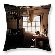 The Old Camp Kitchen Throw Pillow