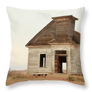 The Old Church In Town Throw Pillow