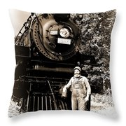 The Old Engineer Throw Pillow