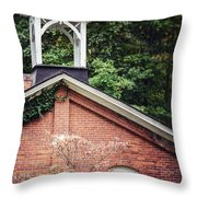 The Old Erie Schoolhouse Throw Pillow