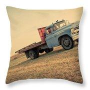 The Old Farm Truck Throw Pillow