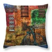 The Old Fashion Bike Throw Pillow