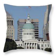 The Old Federal Courthouse St Louis Throw Pillow