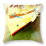 One Day The Old Ferry Is Going To Sink  Throw Pillow