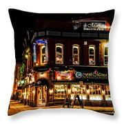 The Old Fish Market Throw Pillow