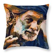 The Old Fisherman Throw Pillow