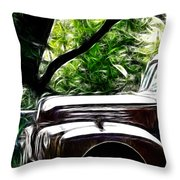 The Old Ford Truck Throw Pillow