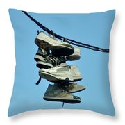 The Old Gang Throw Pillow by Bill Cannon