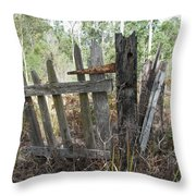 The Old Gate Could Use Some Oil. Throw Pillow