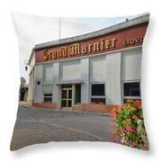 The Old Grand Marnier Distillery Throw Pillow