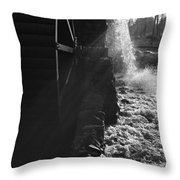 The Old Grist Mill - Black And White Throw Pillow