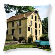 The Old Grist Mill  Paoli Pa. Throw Pillow by Bill Cannon