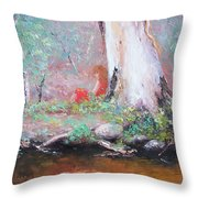 The Old Gum By The Creek Throw Pillow