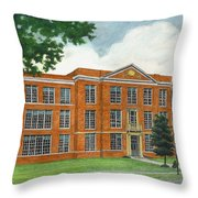 The Old High School Throw Pillow