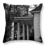 The Old Homestead In Black And White Throw Pillow