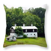 The Old Horse Barn Throw Pillow