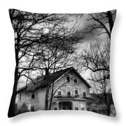 The Old House Down The Street Throw Pillow