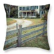 The Old House On The Hill  Throw Pillow