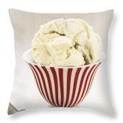The Old Ice Cream Shoppe Throw Pillow