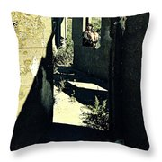 The Old Leper's Laundry Throw Pillow