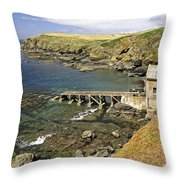 The Old Lizard Lifeboat Station Throw Pillow