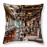 The Old Machine Shop Throw Pillow
