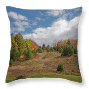 The Old Maple Ridge Ski Slope Throw Pillow