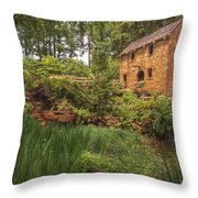 The Old Mill And Pond Throw Pillow