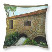 The Old Mill In Dubrovnik Throw Pillow