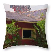 The Old Motel Throw Pillow