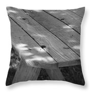 The Old Picnic Table Throw Pillow