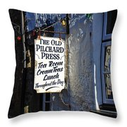 The Old Pilchard Press Throw Pillow