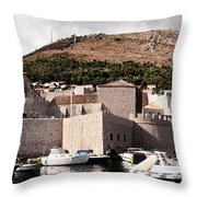 The Old Port Under The Ramparts Throw Pillow