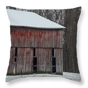 The Old Red Barn Throw Pillow