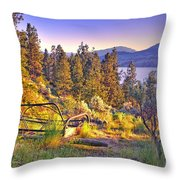 The Old Resting Place Throw Pillow