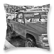The Old Retro Truck Throw Pillow