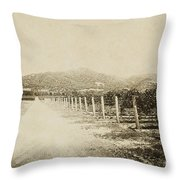 The Old Road Throw Pillow