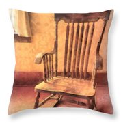 The Old Rocker Throw Pillow
