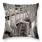 The Old Saw Mill Throw Pillow by Edward Fielding