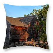The Old Sawmill Throw Pillow by Olivier Le Queinec