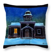 The Old School House Throw Pillow