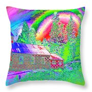 The Old Schoolhouse Library Again Throw Pillow