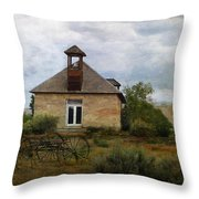 The Old Shell Schoolhouse Throw Pillow