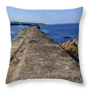 The Old Shipyard Pier Throw Pillow
