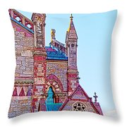 The Old South Church Boston Throw Pillow